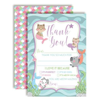Meowmaids Thank You Cards