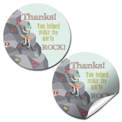 Rock Climbing Party Stickers
