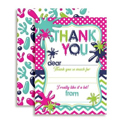 Slime Time Thank You Cards (Girl)