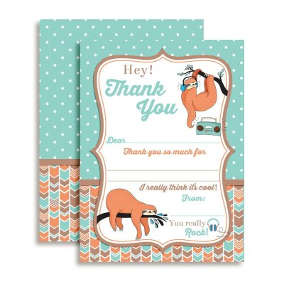 Sloth Thank You Cards