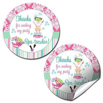 Spa Pampering Party Stickers
