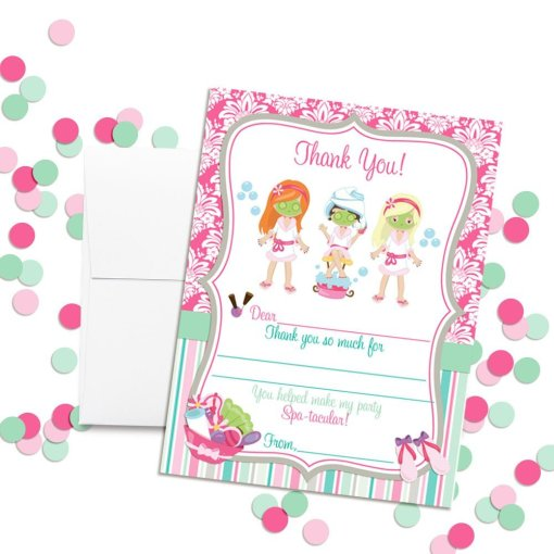 Spa Pampering Thank You Cards