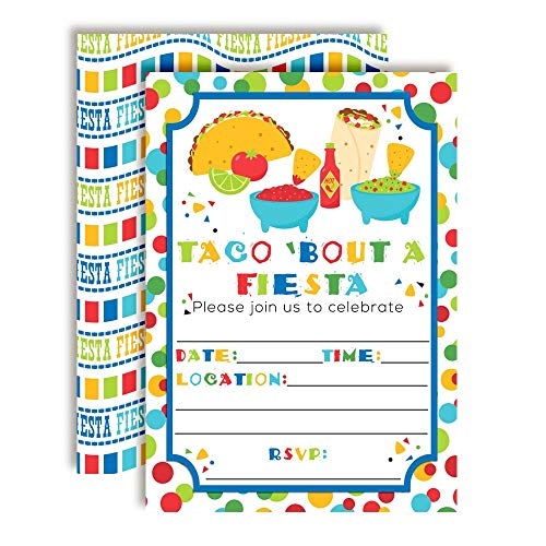 taco bout a party mexican fiesta birthday party invitations