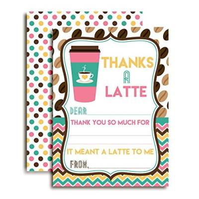 Thanks A Latte Thank You Cards