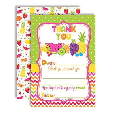 Tutti Fruitti Birthday Thank You Cards