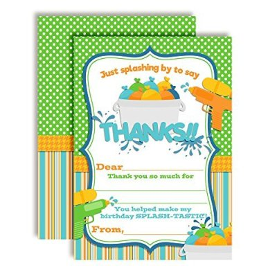 Water Wars Thank You Cards (Boy)