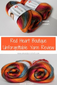Red Heart Boutique Unforgettable Yarn Review