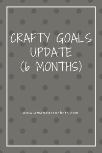 Crafty Goals Update (6 Months)
