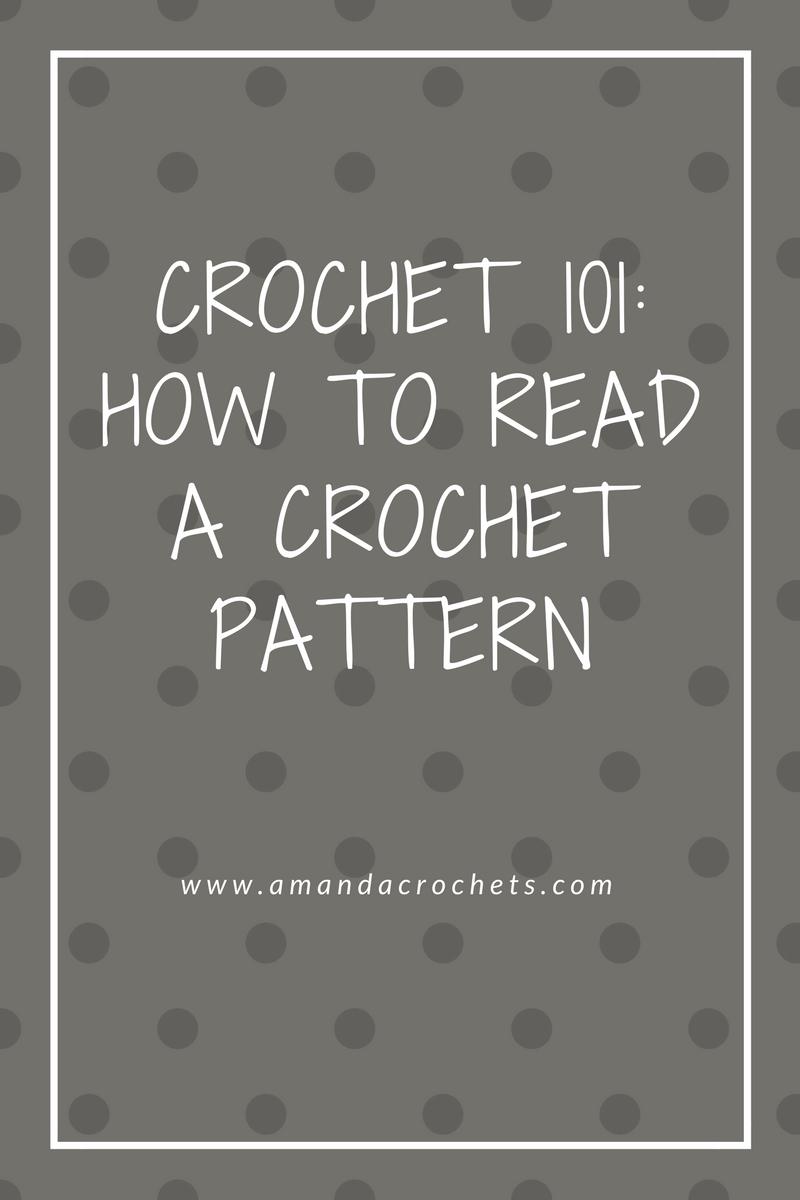 How To Read A Crochet Pattern Amanda Crochets