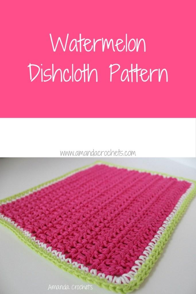 watermelon dishcloth pattern