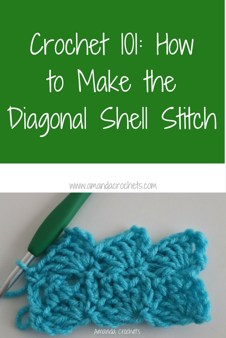 how to make the diagonal shell stitch