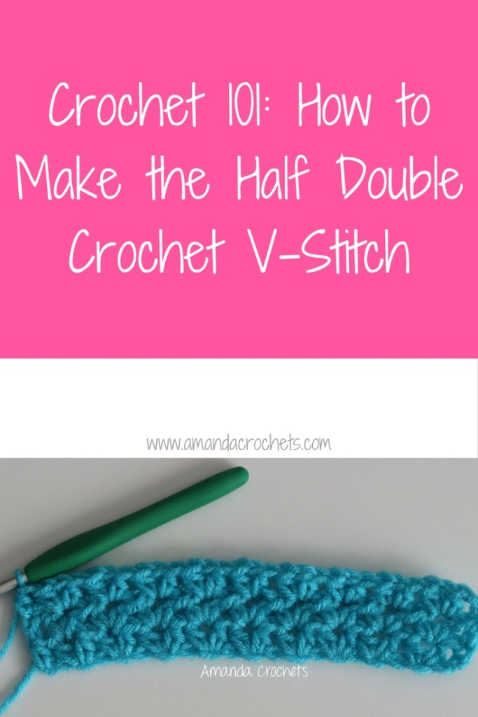 how to make the half double crochet v-stitch