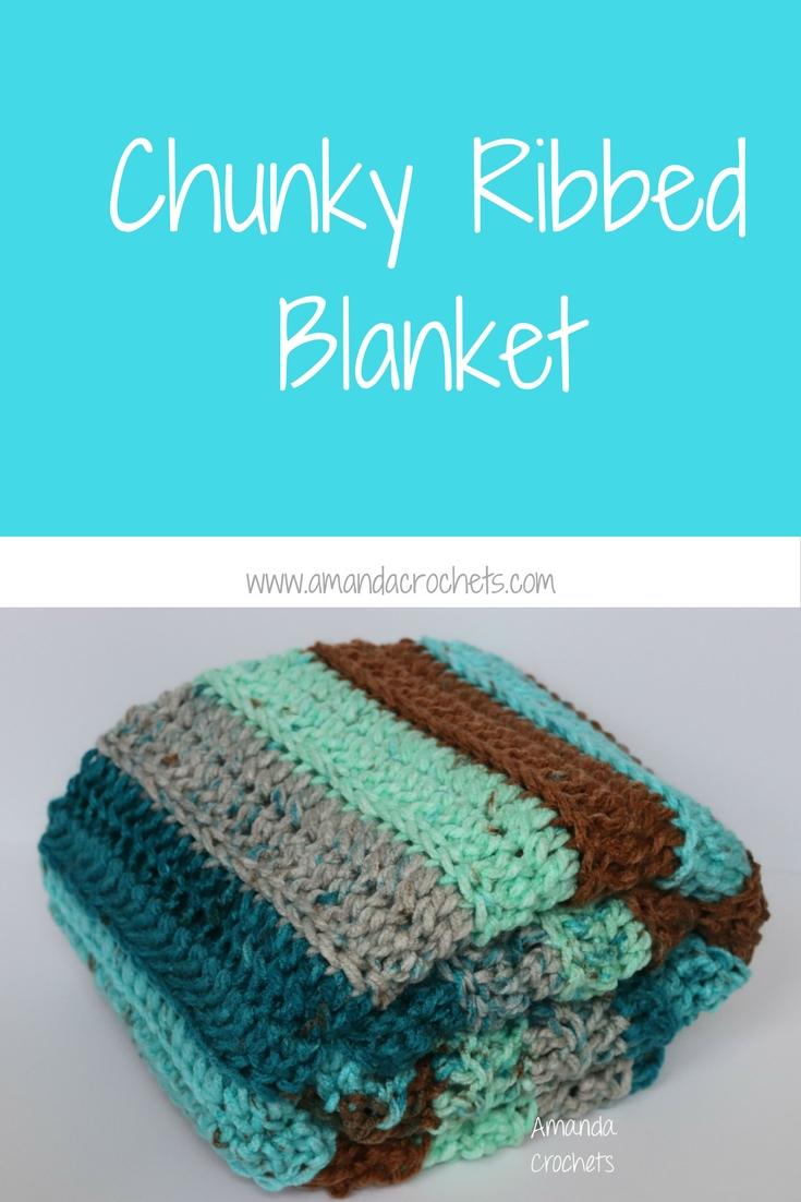 chunky ribbed blanket using caron chunky cakes