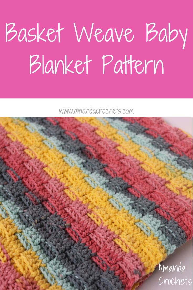 Basket Weave Baby Blanket Pattern Amanda Crochets