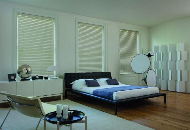white wood blinds