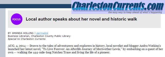 Charleston Currents 8.4.2014 article snippet
