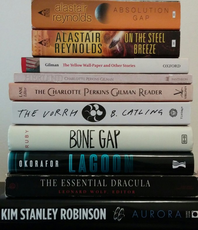 New books including Lagoon, The Vorrh, and Aurora