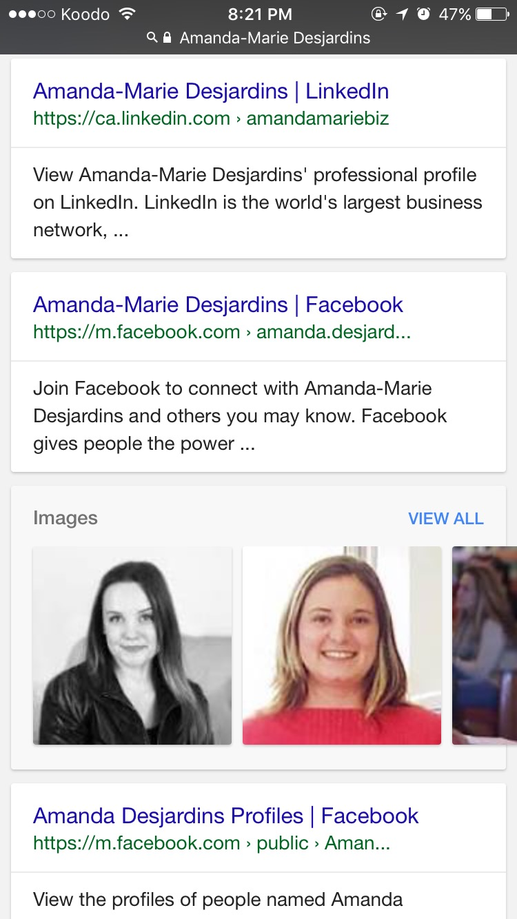 | amandamarie.biz. | Google Yourself|
