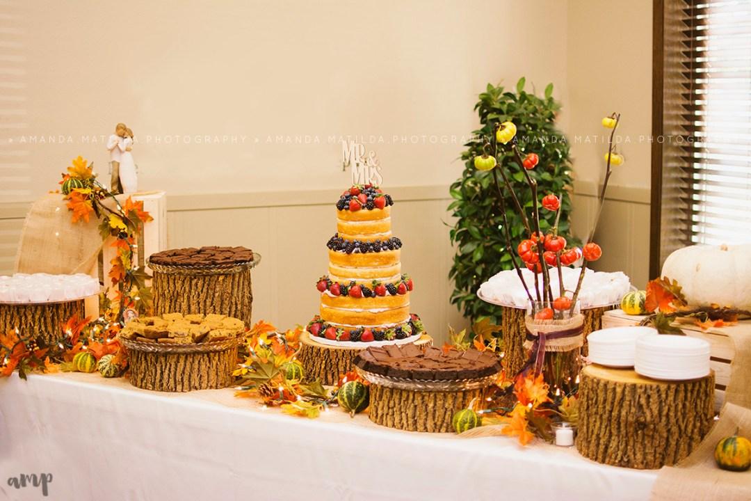 Naked Cake Dessert Table | Grand Junction Wedding Photographer