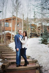 Vail Village in winter | Engagement photographer