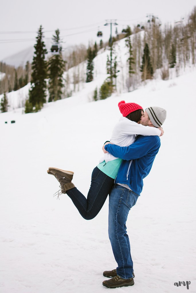 Vail Village skiing | Mountain Engagement photographer