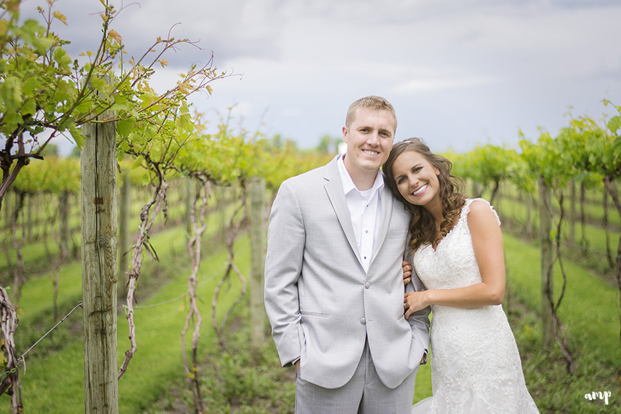 Wedding portraits in a vineyard | | Palisade Winery Wedding Photographer