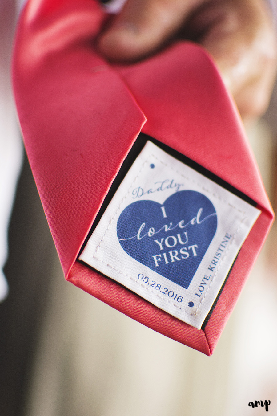 I Loved You First dad's tie | Palisade Winery Wedding Photographer