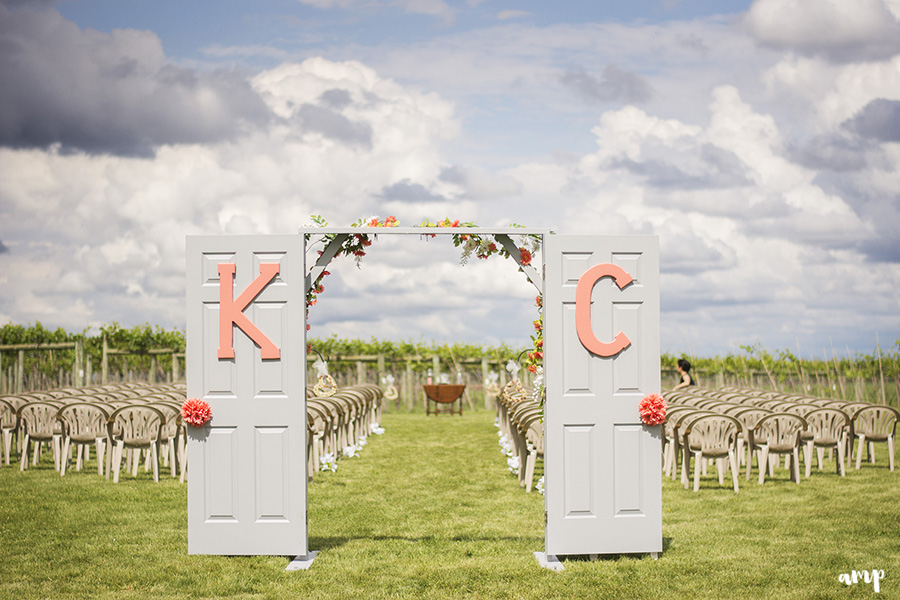 Vineyard Wedding with doors to ceremony | Palisade Winery Wedding Photographer
