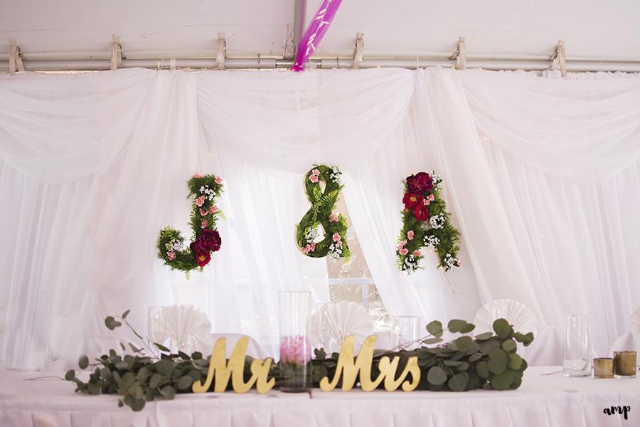Flowery Initials | Ali and Joe's #gardenwedding by amanda.matilda.photography | Colorado Wedding Photographer
