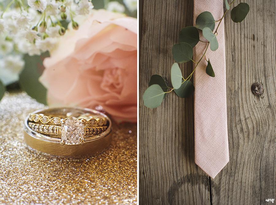 wedding rings and groom's tie | Ali and Joe's #gardenwedding by amanda.matilda.photography | Colorado Wedding Photographer