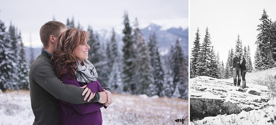 Crested Butte engagement photos | snowy mountain engagement session