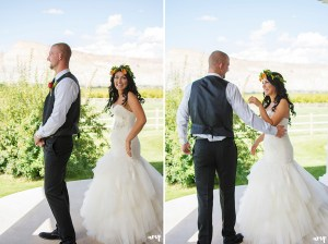 first look | Palisade wedding photographer