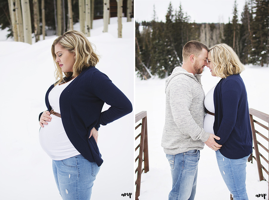 Winter Maternity Photography | Grand Junction Colorado | amanda.matilda.photography