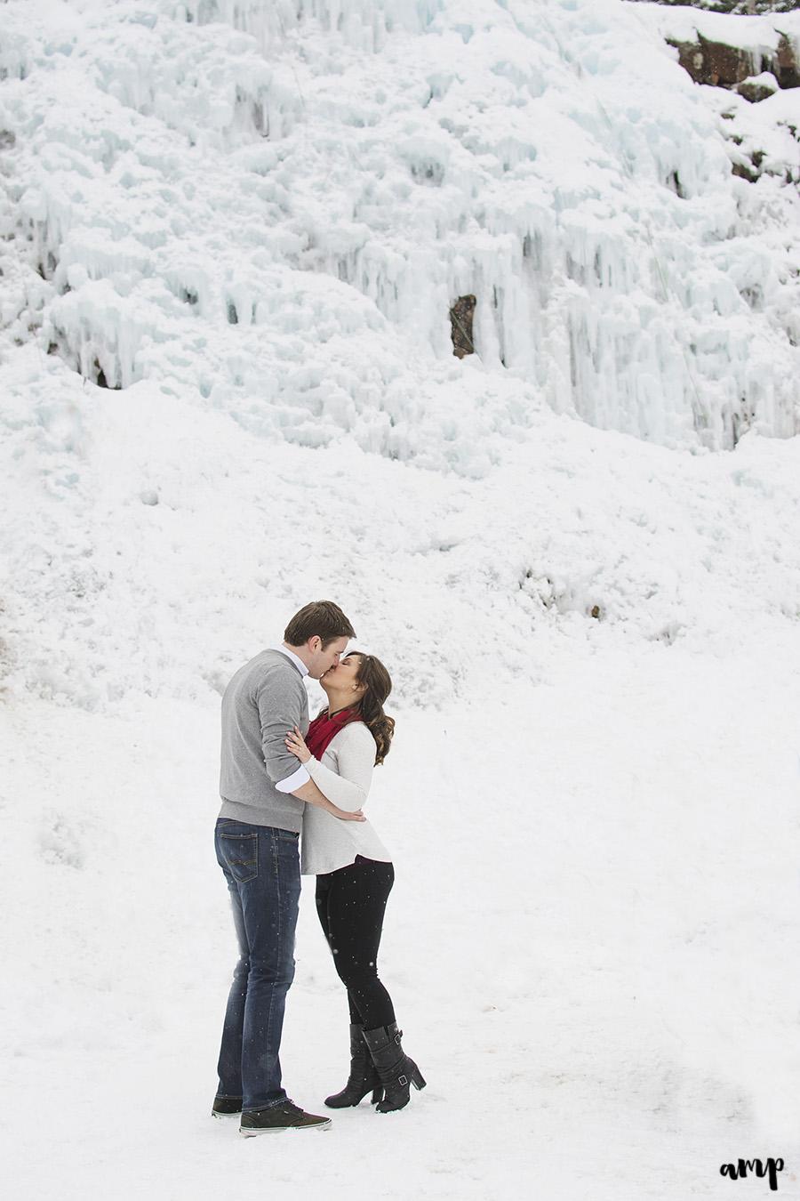 Ouray Ice Park Engagement Session   amanda.matilda.photography