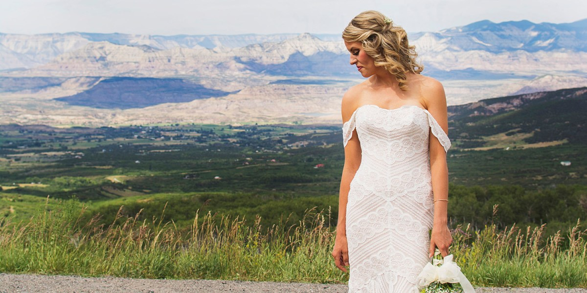 Bride in the Mountains | Powderhorn Ski Resort Wedding Photographer