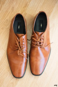 Grooms shoes detail photo