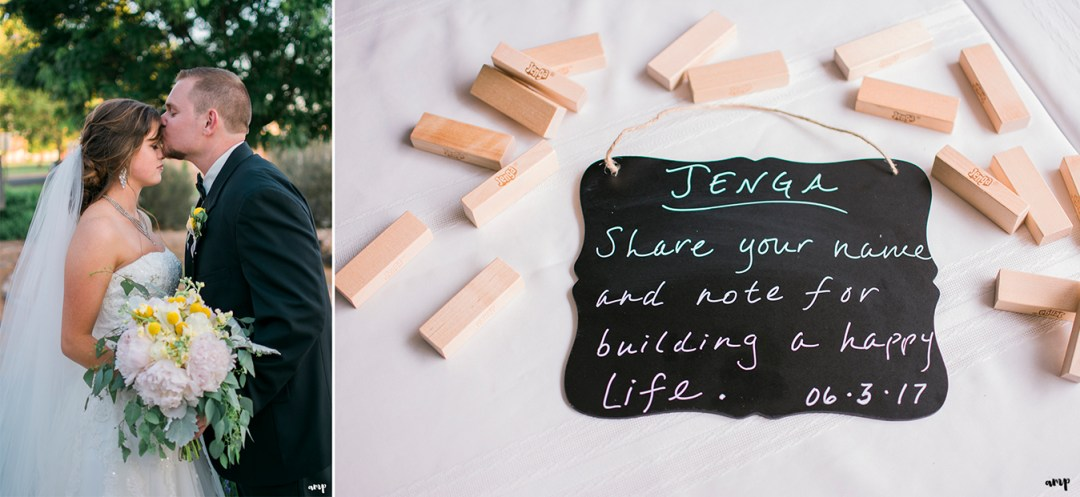 Jenga guest book sign in