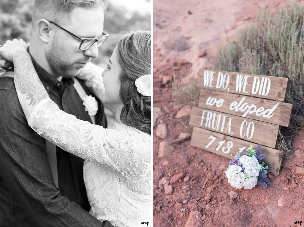 We do. We did. We Eloped. sign for an elopement