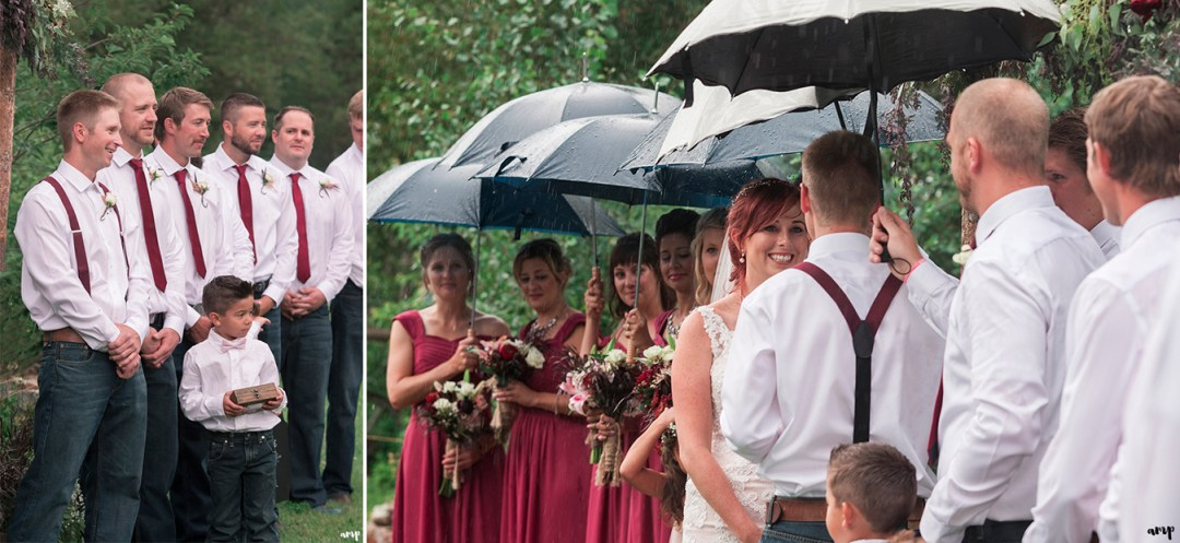 Groom's reaction to seeing his bride