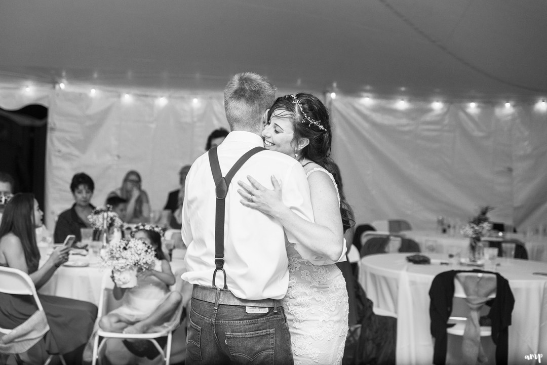 Bride and groom's last dance