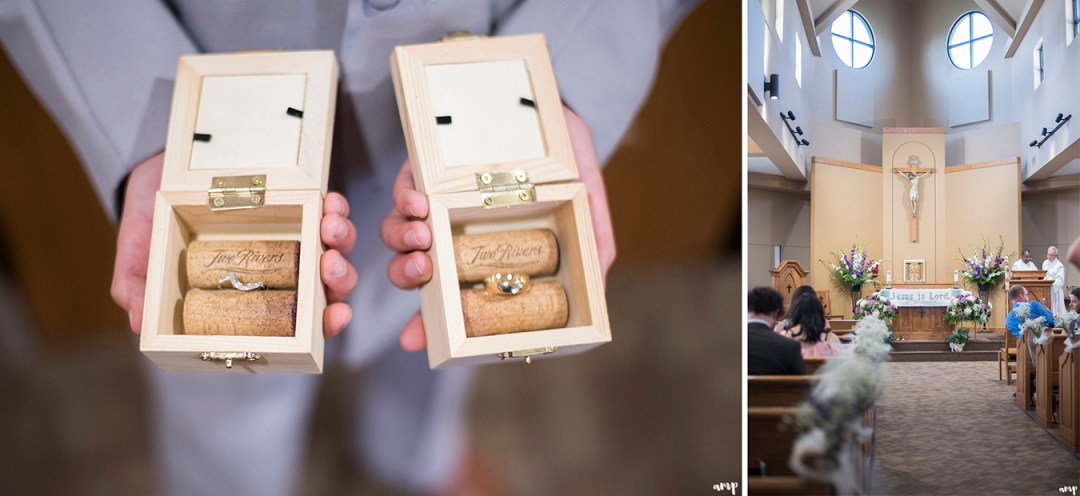 Wedding ring boxes with wine corks