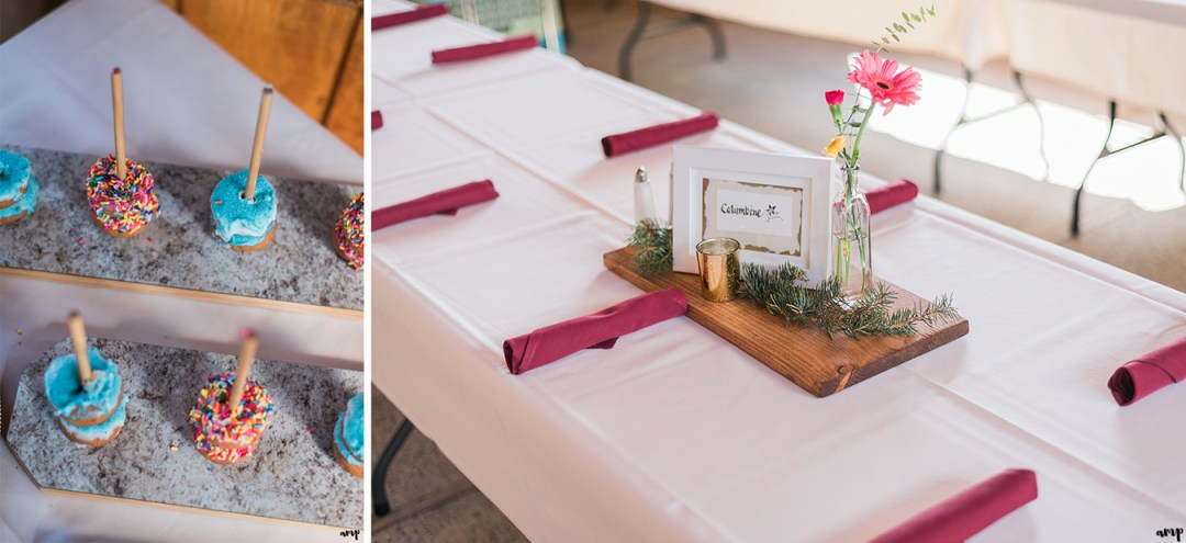 Fall Wedding reception details in Crested Butte at the Mountain Wedding Garden | amanda.matilda.photography