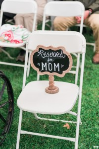 Reserved for Mom memorial during wedding ceremony | amanda.matilda.photography