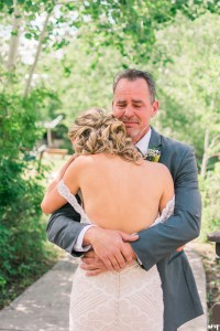 Father daughter first look | Father of the bride crying