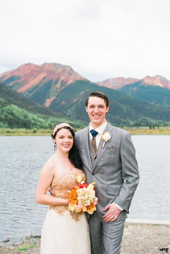 Ouray Wedding at Crystal Lake | Destination Wedding Photographer in Ouray | amanda.matilda.photography