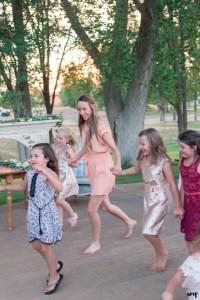 Kids run around the wedding dance floor at a Rangely Colorado Wedding