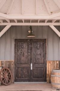 Rustic door at Mountain View Farm | Western Slope Wedding Venues with amanda.matilda.photography
