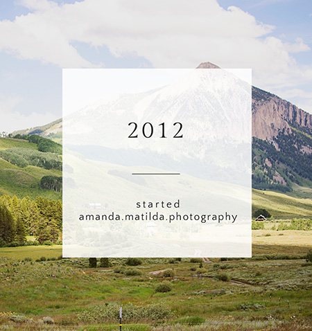 By the Numbers: 6 years in business | amanda.matilda.photography