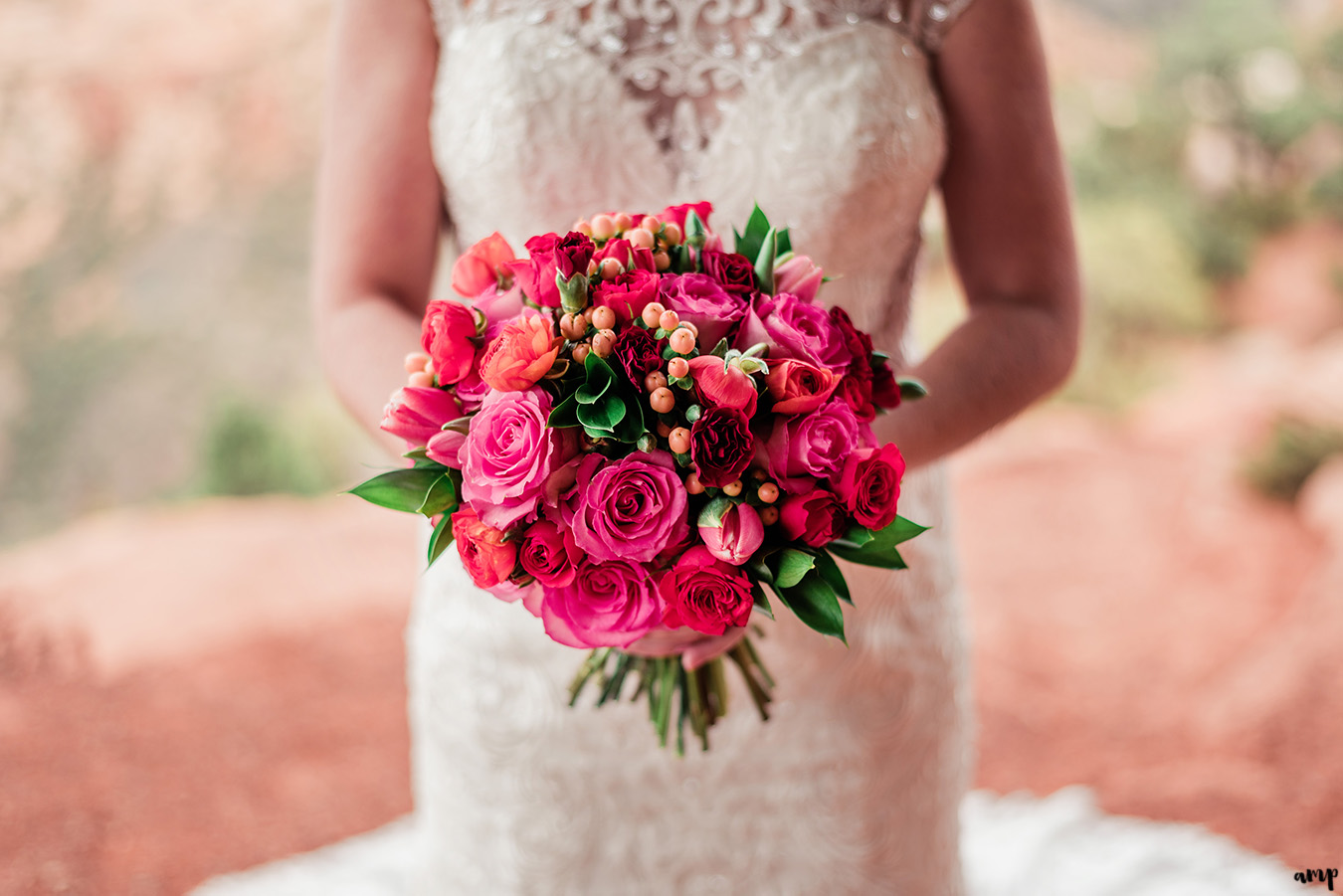 Spring wedding bouquet by Bride & Bloom Design in Grand Junction