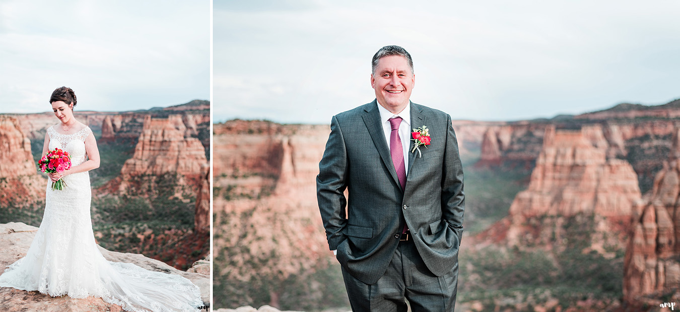 Newlyweds' individual portraits
